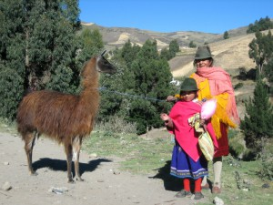 Guamote community tour women and llama